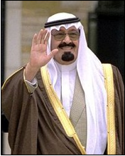 Abdullah bin Abdulaziz Al Saud, Custodian of the Two Holy Mosques is the King of Saudi Arabia. He ascended to the throne on 1 August 2005 upon the death of his half-brother, King Fahd.