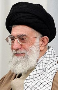 Ayatollah Ali Khamenei, Supreme Leader of Iran Image courtesy of Wikimedia Commons.