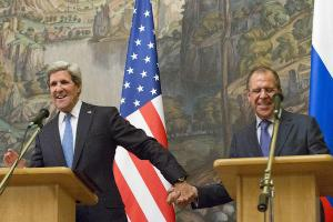 "Secretary of State John Kerry and Russian Foreign Minister Sergey Lavrov Image source: ""Russia, U.S. Plot Peace Talks for Syria,"" Christian Science Monitor"